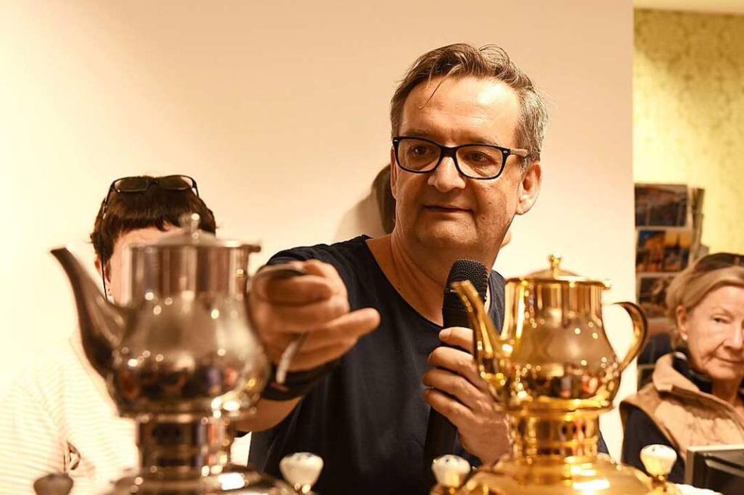 Tee-Experte Jörg Stegmann  | Foto: Rita Eggstein
