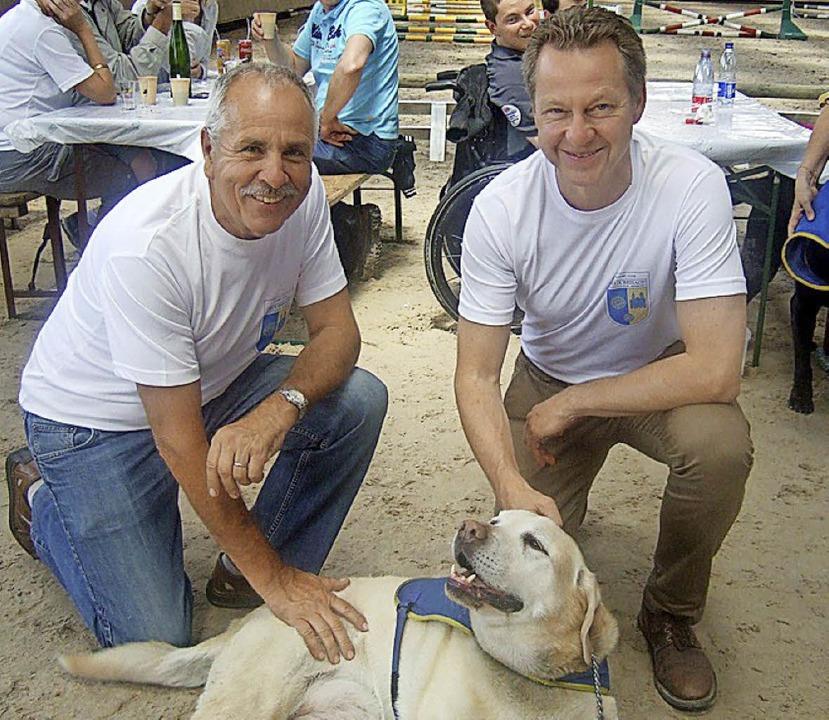 Leon Baur (links) und Jürgen Lange von Kulessa   | Foto: Privat