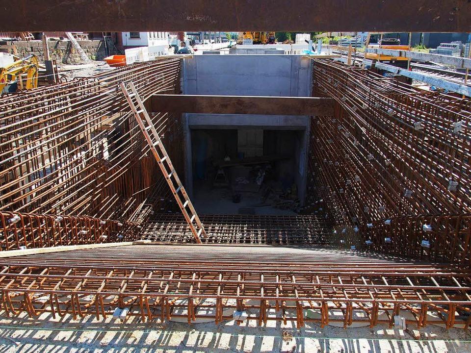 Der Beton kann kommen: Unterführung in Kirchzarten.  | Foto: Markus Donner