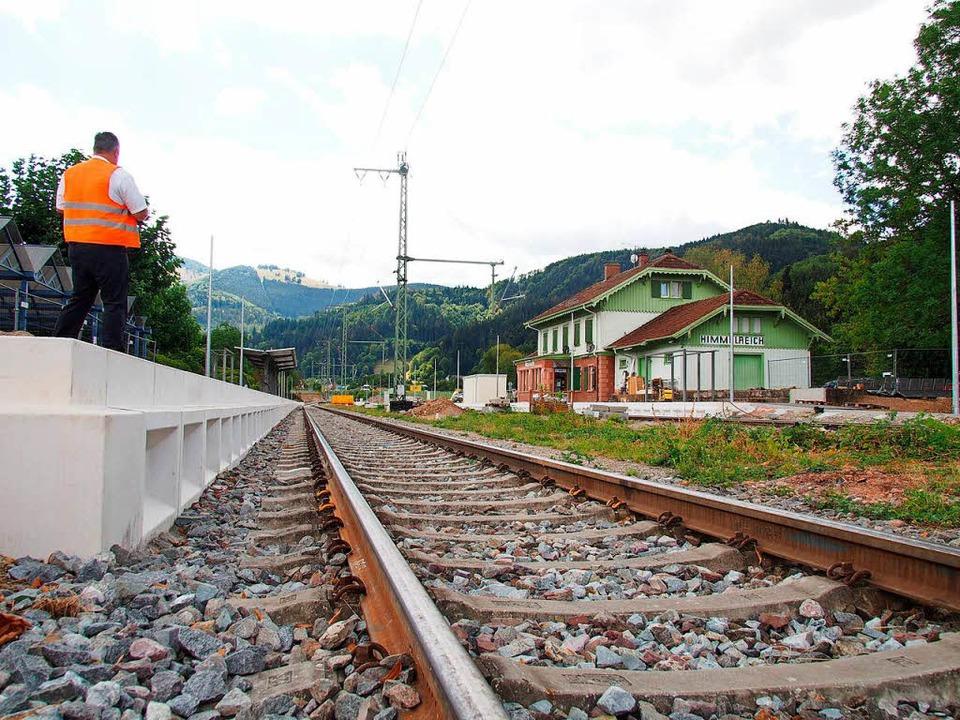 210 Meter lang sind die neuen Bahnstgeige: hier am Bahnhof  Himmelreich  | Foto: Markus Donner
