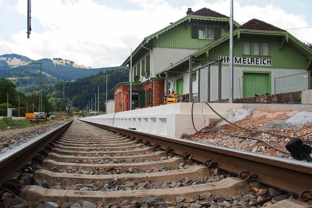 Der Bahnhof Himmelreich rüstet sich fü...uf der Höllentalbahn verkehren werden.  | Foto: Markus Donner