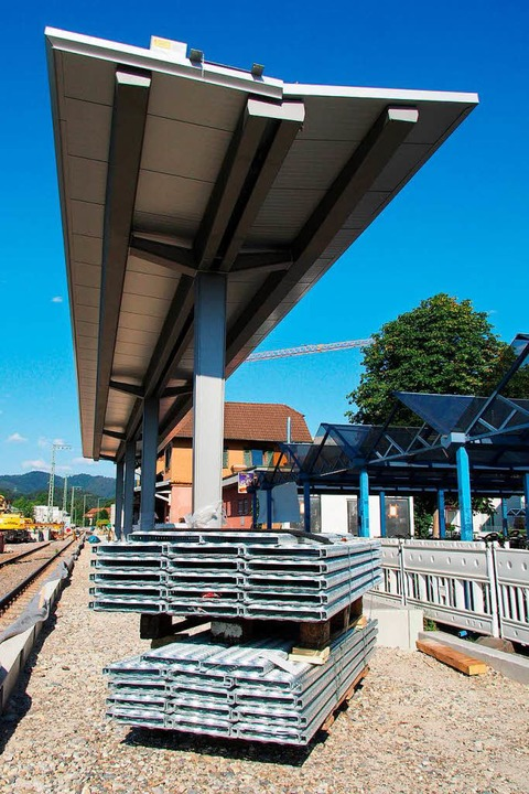 Gleisüberdachung in Kirchzarten  | Foto: Markus Donner