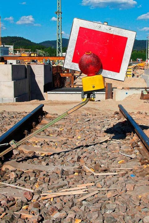 Hier endet das Gleis – vorläufig.  | Foto: Markus Donner
