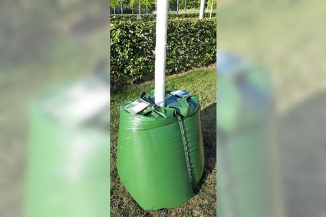 Testlauf mit Wassersäcken