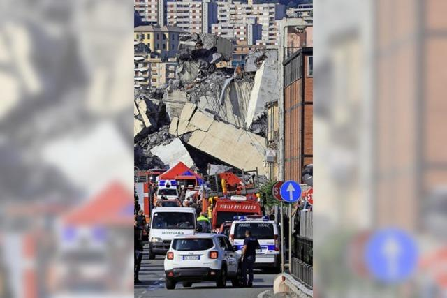Apokalyptische Szenen in Genua