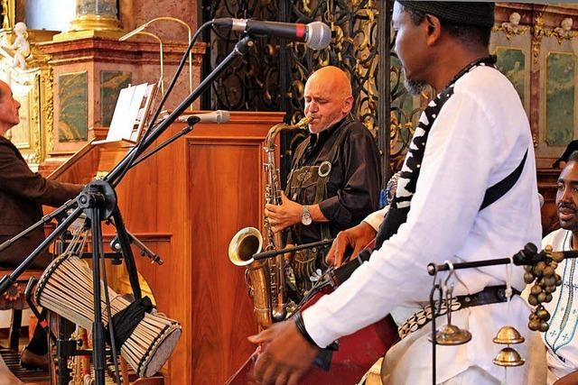 Ekstatischer Groove in der Kirche