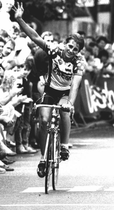 Peter Hilse 1987 bei seiner Fahrt zum Deutschen Meistertitel.  | Foto: Irina Strohecker