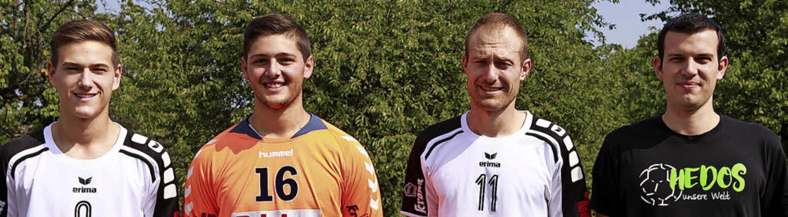 Steffen Sieverding, Maximilian Waidele... (von links) strahlen in die Kamera.    | Foto: Oliver Vauderwange