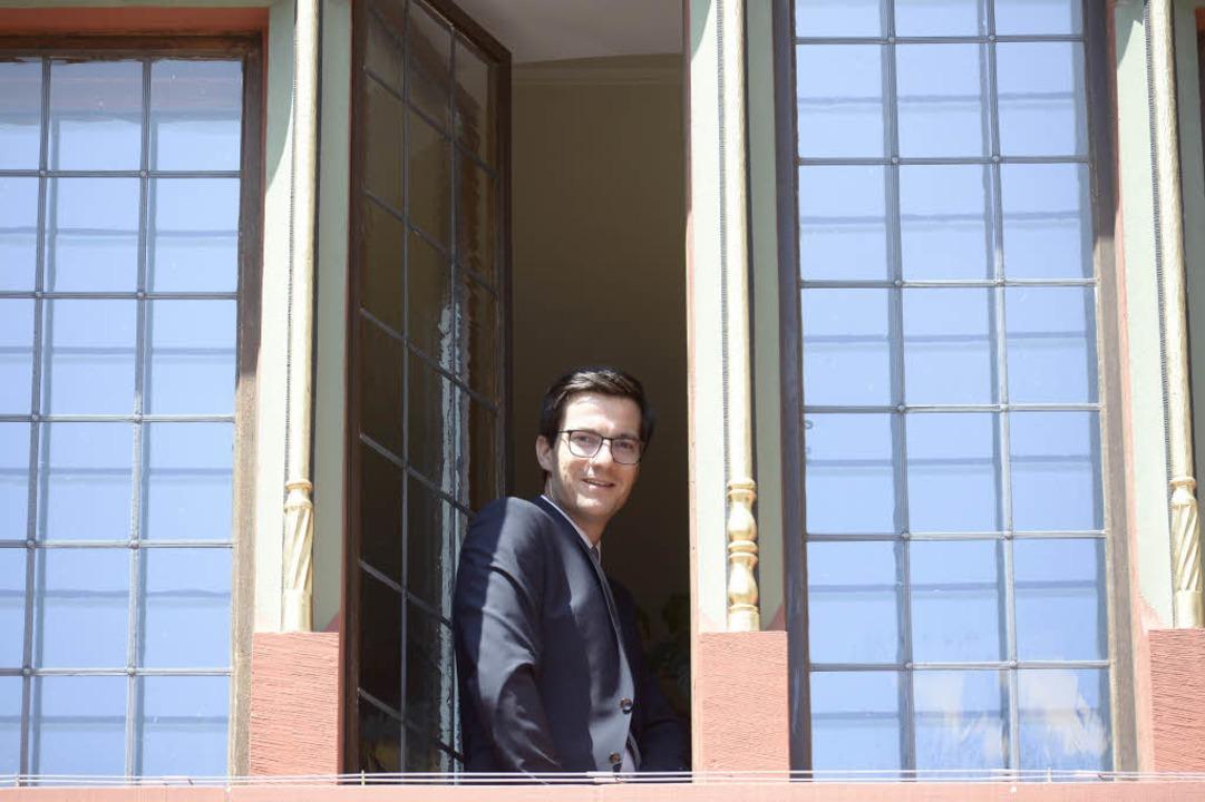 OB Martin Horn an seinem ersten Tag im Rathaus im Juli  | Foto: Ingo Schneider