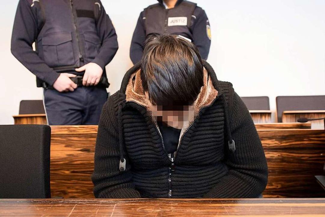 Hussein K. bei der Urteilsverkündung i... Landgericht im März 2018 (Archivbild)  | Foto: AFP