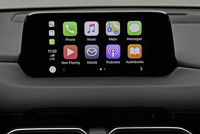 Moderne Welt im Auto