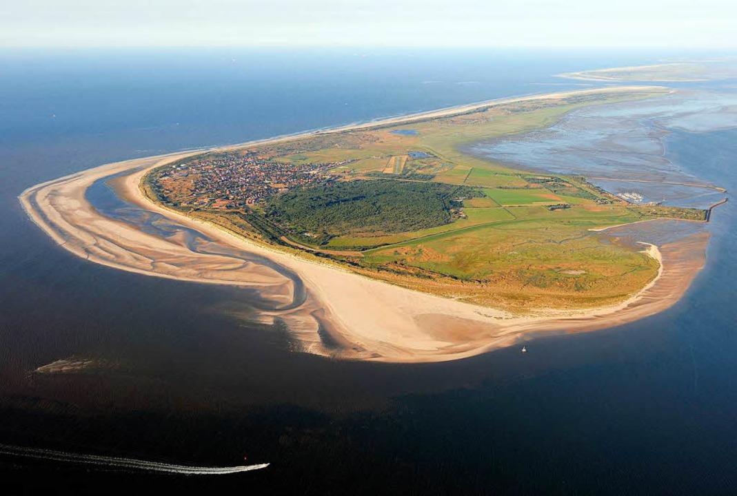 Wenn der Meeresspiegel deutlich steigt... die Insel Langeoog Probleme bekommen.  | Foto: Ingo Wagner