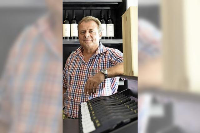 Wolfgang Grether eröffnet Weinmarkt
