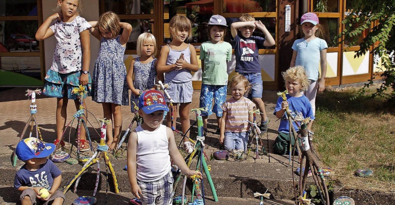 """Einen """"geisterreichen"""" Tag hatten die Kinder in Simonswald.     Foto: Privat"""
