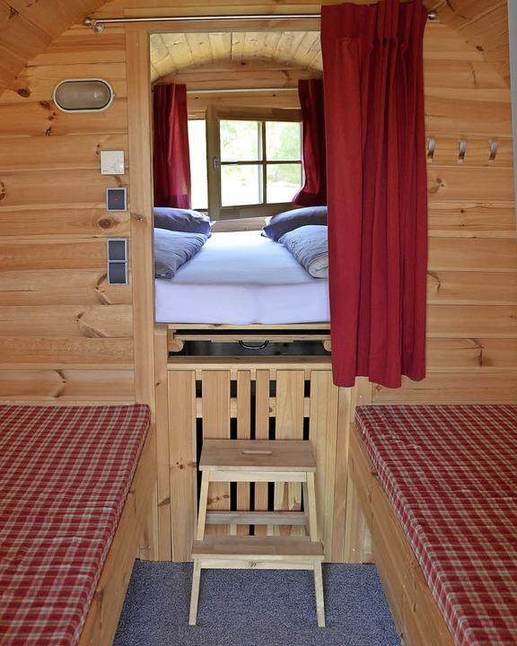Die vorne in die Wandrundungen eingefü...u einzelnen Betten umgewandelt werden.  | Foto: Sarah Trinler