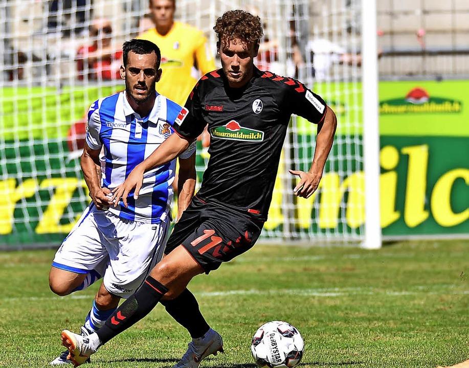 Sein Einsatz morgen gilt als fraglich:...ligisten Real Sociedad San Sebastian.   | Foto:  AKE