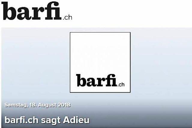Das Basler Onlineportal barfi.ch geht offline