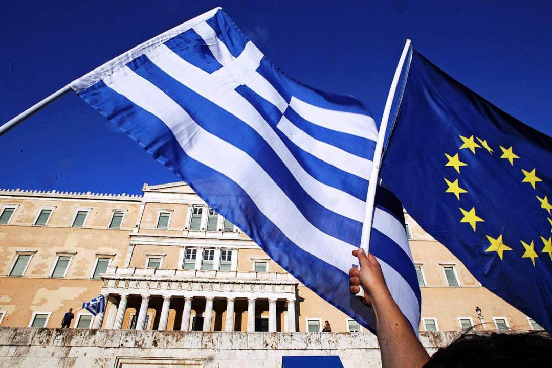 Griechenland hat einen hohen Preis daf...r Europäischen Währungsunion zu sein.   | Foto: DPA