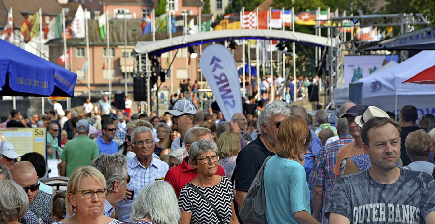 Rund 12000 Besucher waren an den drei Tagen auf der Brücke.  | Foto: Ralf H. Dorweiler