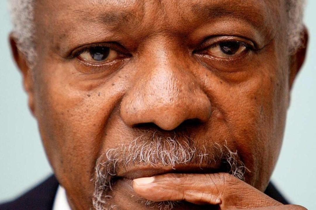 Stand von 1997 bis 2006 an der Spitze der UNO: Kofi Annan    Foto: AFP
