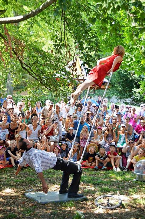 Das Festival Brückensensationen verbindet Akrobatik...  | Foto: Horatio Gollin