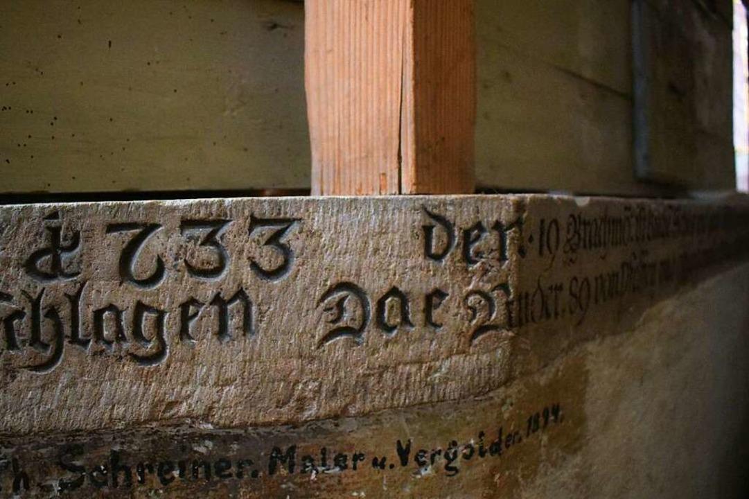"""Anno 1633 den 19. Brachmo ist K...hrt erinnert an den 30-jährigen Krieg.  | Foto: Frank Schoch"