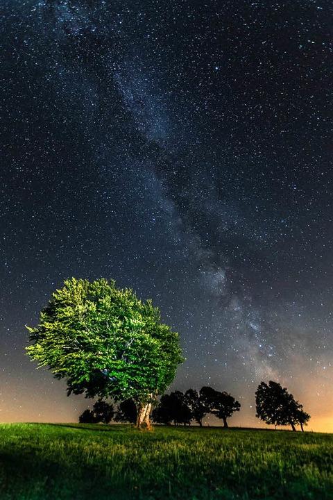Der Sternenhimmel über dem Schauinsland.    Foto: Jan Thoden