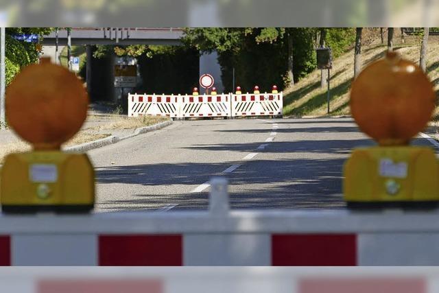 Biengener Allee gesperrt – Umleitungen in Bad Krozingen