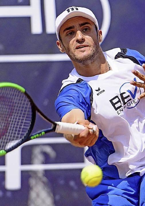 <BZ-FotoAnlauf>Tennis:</BZ-FotoAnlauf>...arlsruhe im Finale stand Paul Wörner.   | Foto:  Sek