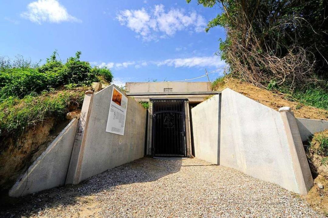Vergessen oder gar verdrängt: Die Frei...r Westwall-Bunker in Freiburg-Opfingen  | Foto: Thomas Kunz