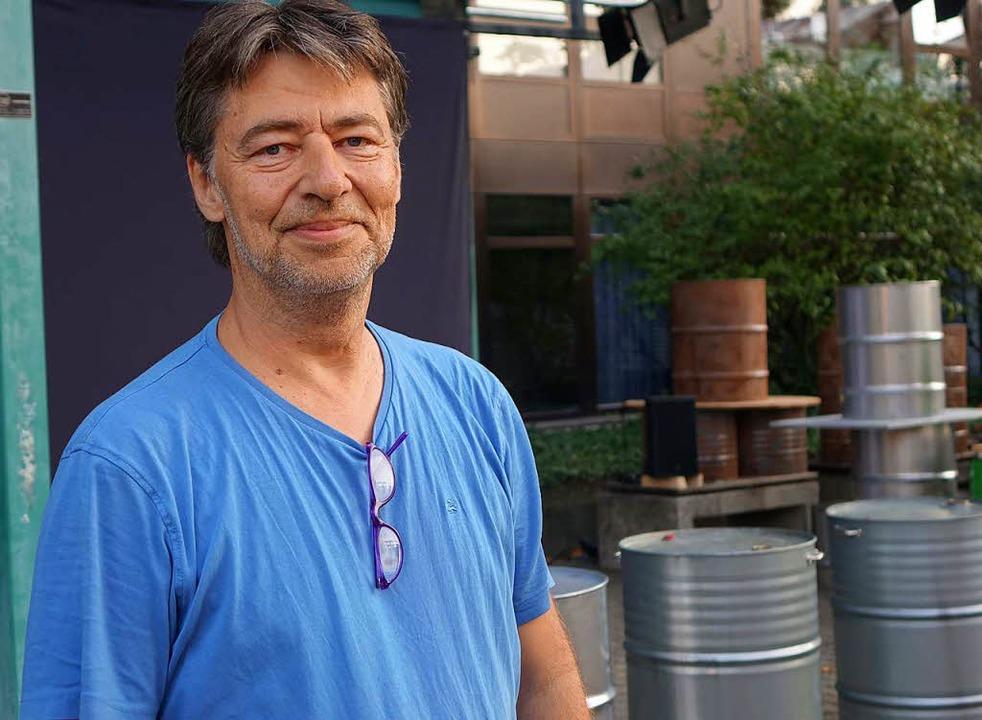 Regisseur Danny Wehrmüller stellt in s...züge zum Thema Deponie in Muttenz her.  | Foto: Roswitha Frey