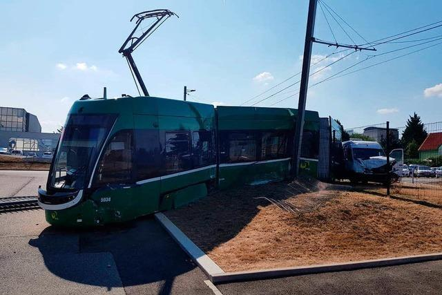 Nach Unfall in Saint-Louis ist die Tramlinie 3 noch immer unterbrochen