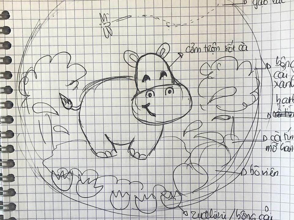 Als Vorbereitung zeichnet sie ihre Ideen auf Papier  | Foto: privat