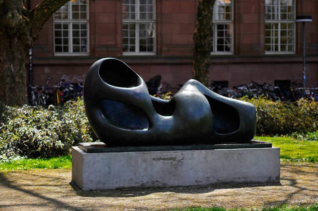 So wurde die Skulptur vor der Platzneugestaltung präsentiert.  | Foto: Ingo Schneider