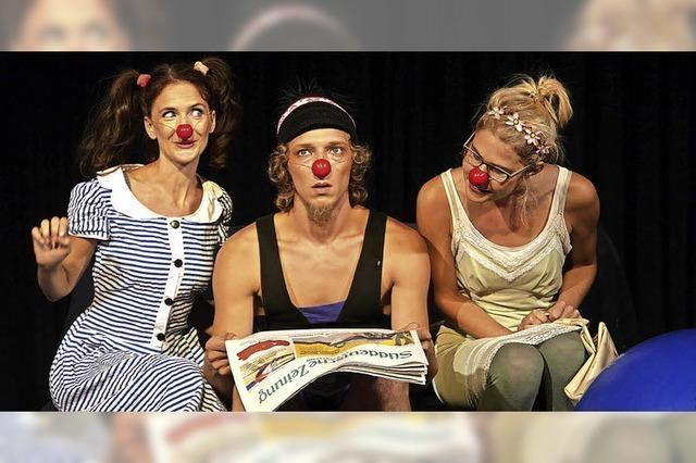 Die Absolventen der Gutacher Clownschule zeigen ihr Können