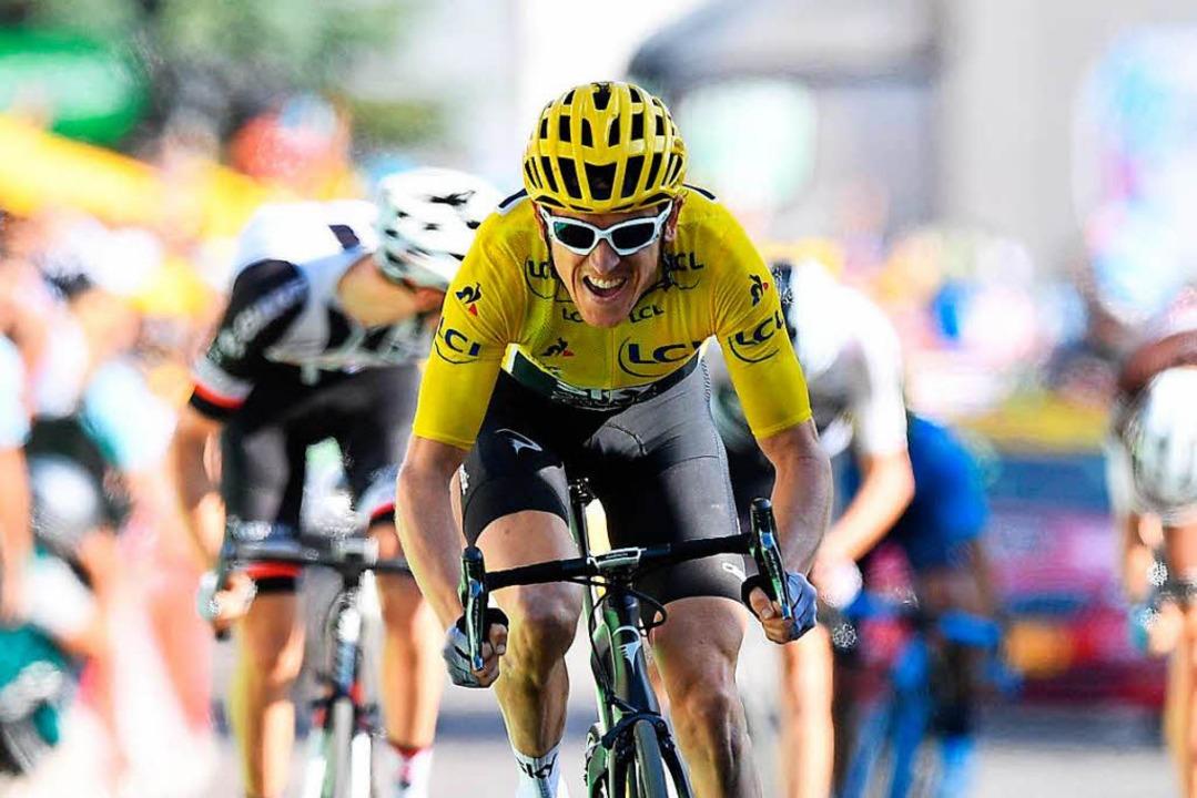 Bei der Deutschland Tour mit dabei: Tour-de-France-Sieger  Geraint Thomas   | Foto: dpa