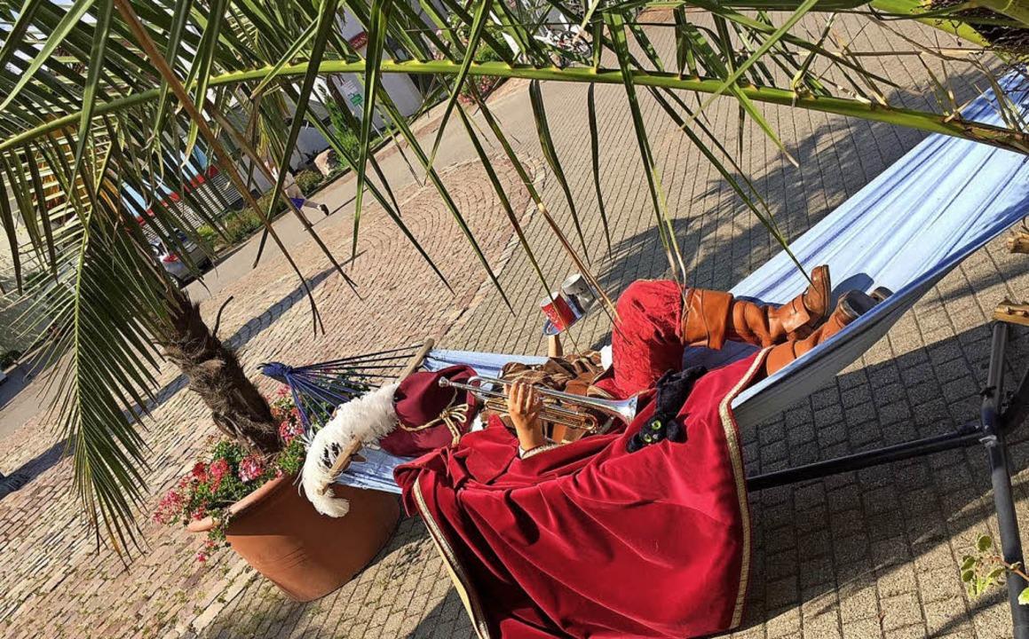 Facebook-Aktion zum Tag der Hängematte...n, Gäste nach Bad Säckingen zu locken.  | Foto: Stadt