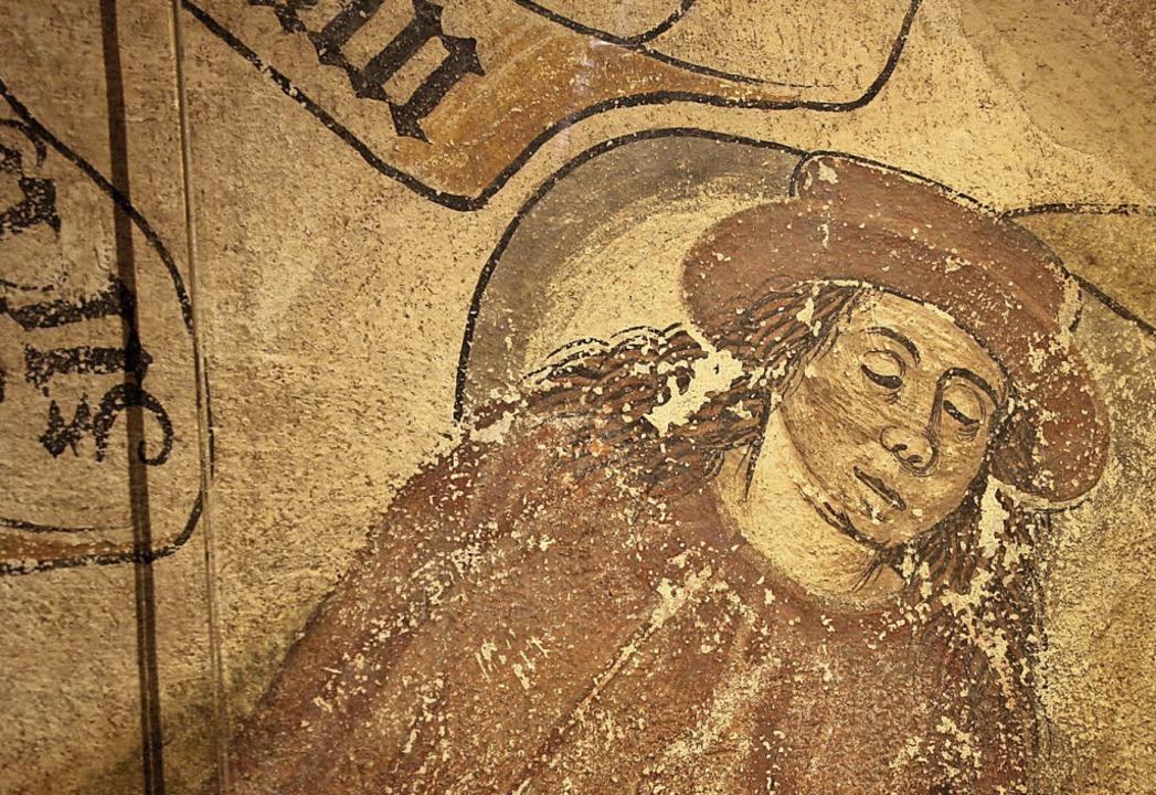 Die Wandmalerei des Niemand im Üsenber...Endingen entstand vor rund 500 Jahren.    Foto: Christiane Franz