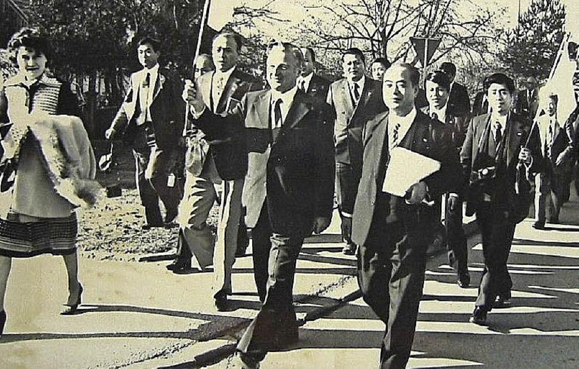 Vor 40 Jahren erregten sie Aufsehen, d...es Bürgermeisters Annemarie Hermuth.    | Foto: Archivbild: Steinhart
