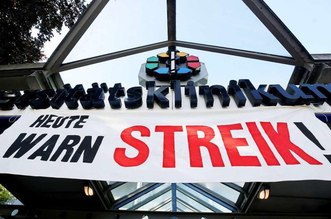 Wenn sich Arbeitgeber und Arbeitnehmer... eine Gewerkschaft zum Streik aufruft.  | Foto: dpa