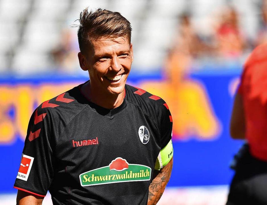 Der neue SC-Kapitän Mike Frantz befürw...ratische Wahlverfahren seines Vereins.  | Foto: Achim Keller
