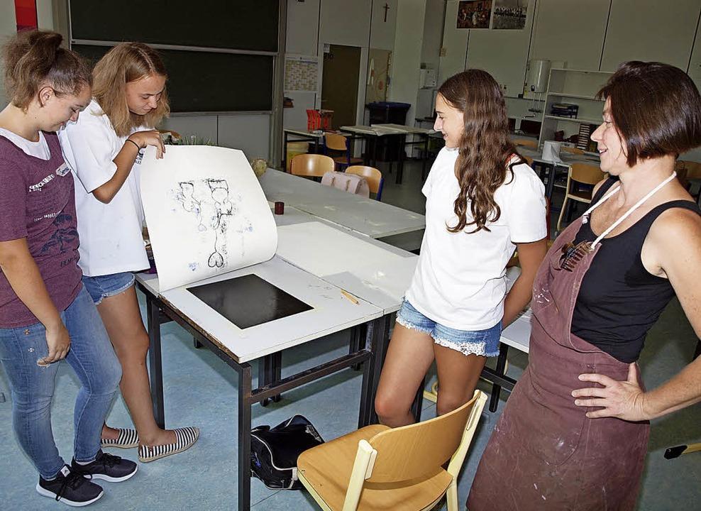 Aus einem Internet-Fundstück wird Kuns...er  Emil-Dörle-Schule in Herbolzheim.   | Foto:  iwi
