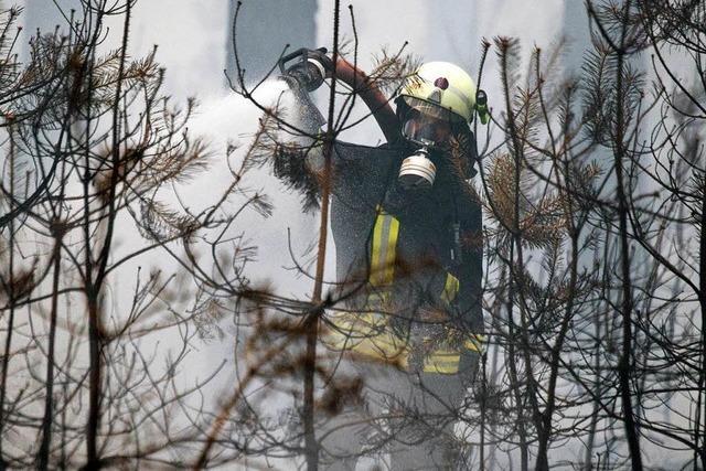 Hunderte Einsatzkräfte in Brandenburg weiter im Einsatz gegen die Flammen