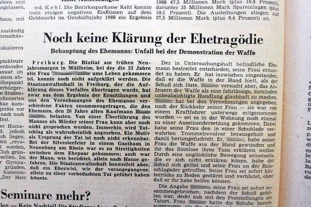 Anfang 1968 sorgt eine Familientragödie in Müllheim für Gesprächsstoff