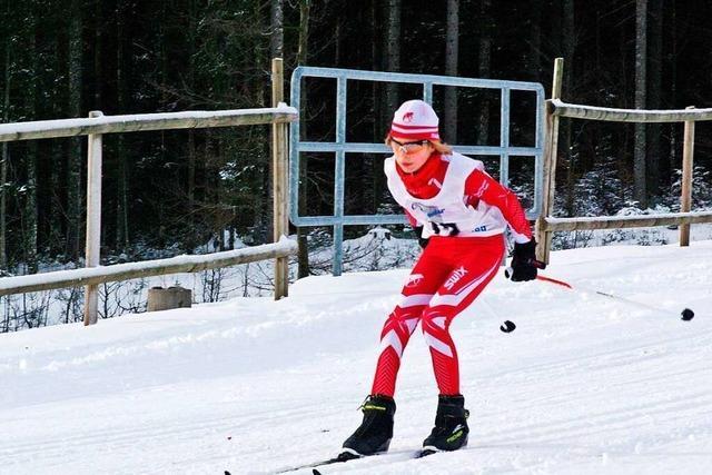 Ekaterina Kauffmann ist Deutsche Para-Schülermeisterin im Skilanglauf und im Biathlon