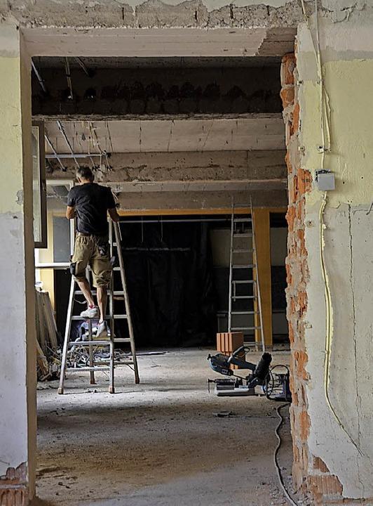 Die Räume wurden entkernt.    Foto: Felix Lieschke