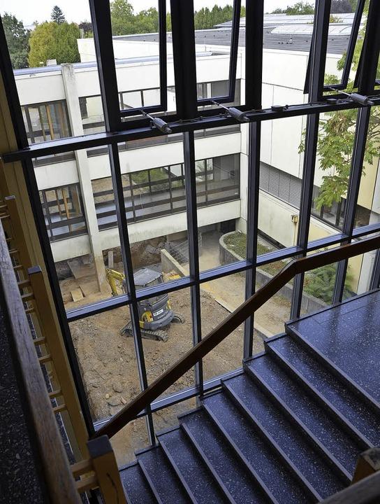 Blick auf den Standort des neuen Fahrstuhls     Foto: Felix Lieschke