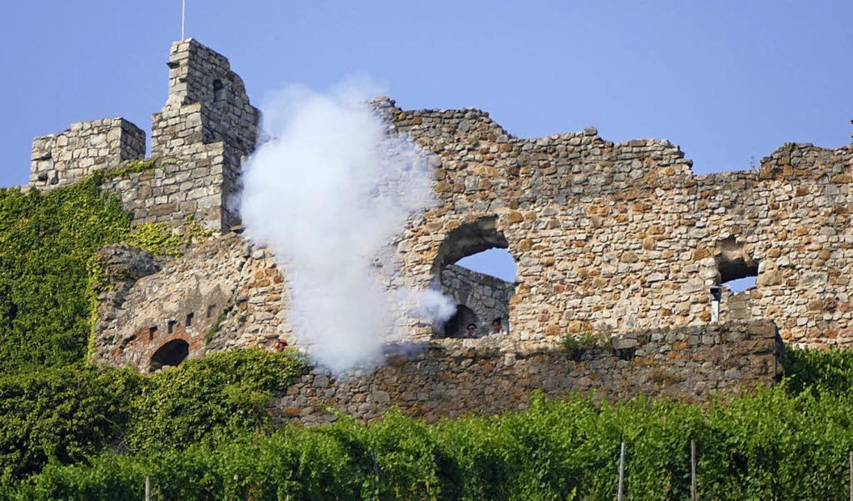 Vor 400 Jahren wurde die Staufener Bur...en, etwa der Eröffnung des Weinfestes.  | Foto: Frank Schoch