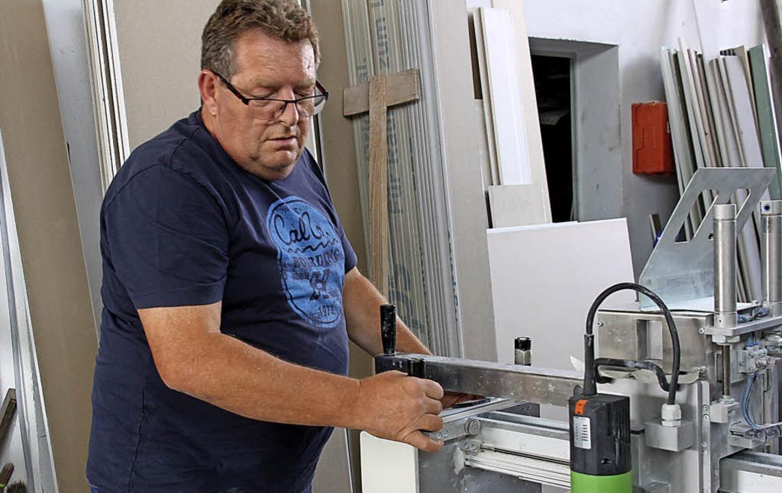 Firmengründer Karl-Heinz Rinklin bei der Arbeit   | Foto: Christiane Franz