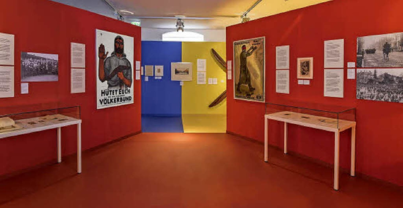 Die Räume der Ausstellung Zeitenwende ...elb gehalten ist der Raum über Baden.   | Foto: Dreiländermuseum Lörrach